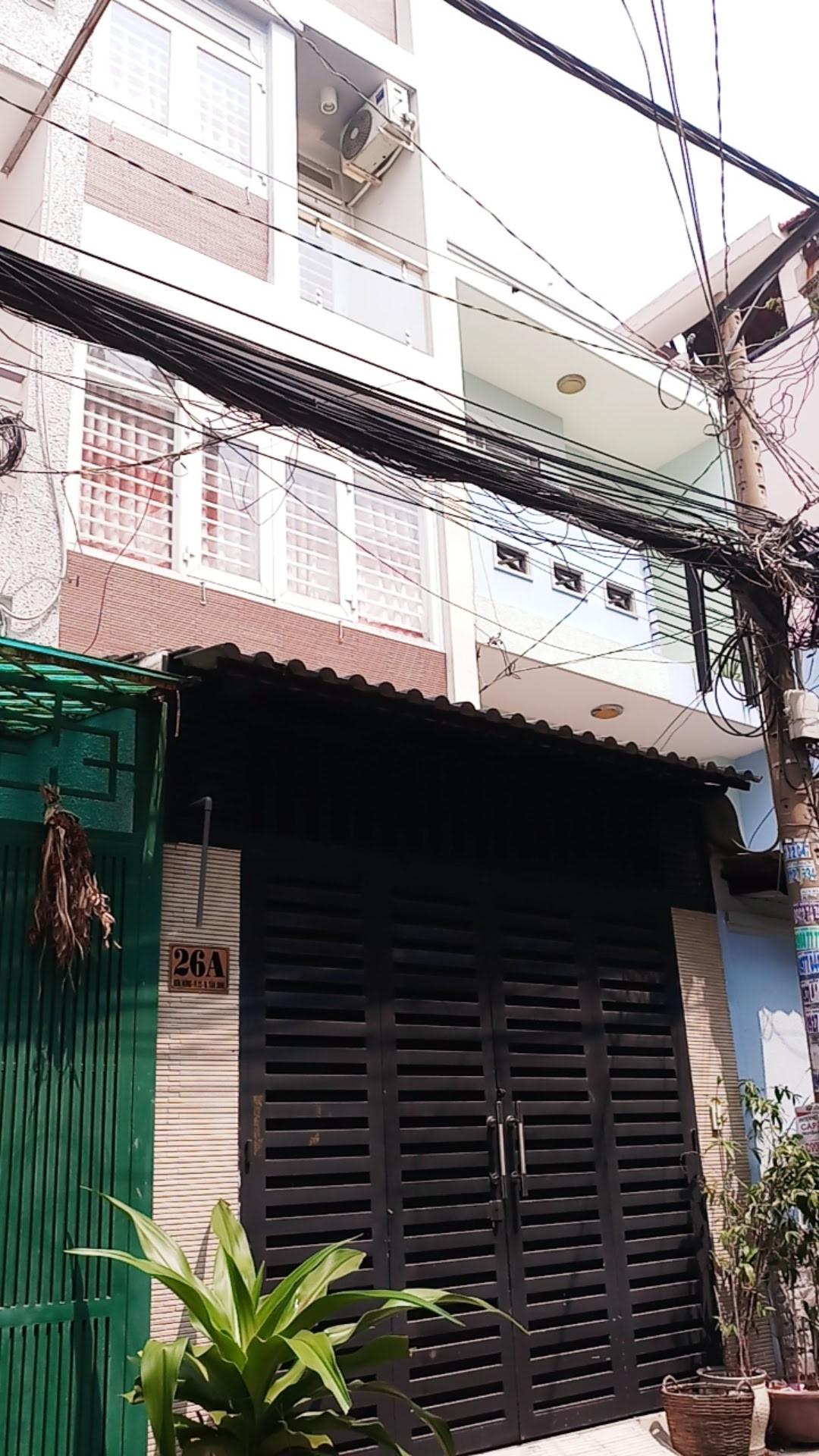 Bán nhà mặt tiền Bàu Cát 1, P.12, Tân Bình; 5 x 9m, 3 lầu, đang cho thuê 20 triệu